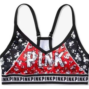 NWT Victoria's Secret PINK floral sports bra large